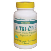 Nutri-Zyme Chewable Peppermint, 90 Tabs, Nature's Plus