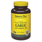 Buy Garlic and Parsley Oil 180 sGels Nature's Plus Online, UK Delivery, Cardiovascular Circulation Circulatory Heart Support Formulas Supplements