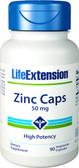 Life Extension Zinc Caps High Potency 50 mg 90 Caps, Immune
