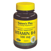 Buy Vitamin B-6 500 mg 90 Tabs Nature's Plus Online, UK Delivery, Vitamin B6 Pyridoxine Gluten Free