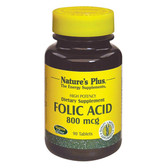 Folic Acid 800 mcg 90 Tabs Nature's Plus