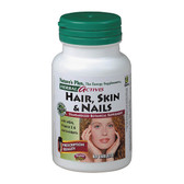 Buy Herbal Actives Hair Skin & Nails 60 Tabs Nature's Plus Online, UK Delivery, Vitamins For Women Hair Nails Skin Women's Supplements Gluten Free