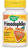Buy Primadophilus Kids Orange Flavor Chewables Ages 2-12 30 Tabs Nature's Way Online, UK Delivery, Probiotics Acidophilus