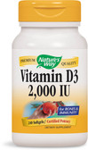Buy Vitamin D3 2000 IU 240 sGels Nature's Way Online, UK Delivery, Vitamin D3
