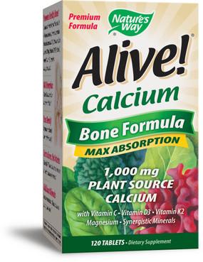 Buy UK Alive Calcium Bone, 120 Tabs, Nature's Way