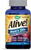 Buy Alive! Men's 50+ Multi-Vitamin Multi-Mineral 75 Gummies Nature's Way Online, UK Delivery, Multivitamins For Men Gluten Free