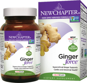 Buy Ginger Force 60 Liquid Vcaps New Chapter Online, UK Delivery, Herbal Remedy Natural Treatment