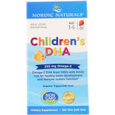Buy Children's DHA Strawberry 250 mg 180 Chewable sGels Nordic Naturals Online, UK Delivery, EFA Omega DHA