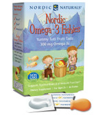 Buy Nordic Omega-3 Fishies Yummy Tutti Frutti Taste 300 mg 36 Fishies Nordic Naturals Online, UK Delivery, EFA Omega DHA