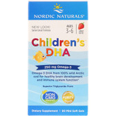 Buy Children's DHA Strawberry 250 mg 90 Chewable sGels Nordic Naturals Online, UK Delivery, EFA Omega EPA DHA
