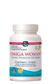 Buy Omega Woman Evening Primrose Oil Blend Lemon 500 mg 120 sGels Nordic Naturals Online, UK Delivery, EFA Omega EPA DHA