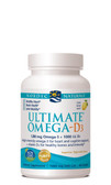 Buy Ultimate Omega-D3 Lemon 1000 mg 60 sGels Nordic Naturals Online, UK Delivery, EFA Omega EPA DHA