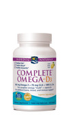 Complete Omega-D3 Lemon 1000 mg 60 sGels Nordic Naturals