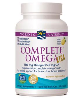 Buy Complete Omega Xtra Lemon 1000 mg 60 sGels Nordic Naturals Online, UK Delivery, EFA Omega EPA DHA