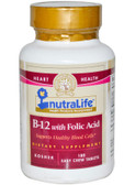 Buy B-12 with Folic Acid 180 Easy Chew Tabs NutraLife Online, UK Delivery, Vitamin B12