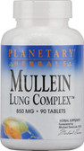 Mullein Lung Complex 850 mg, 90 Tabs, Planetary