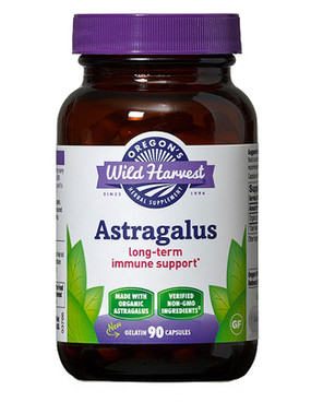 Buy Astragalus 90 Non-GMO Veggie Caps Oregon's Wild Harvest Online, UK Delivery, Cold Flu Remedy Relief Viral Astragalus Immune Support