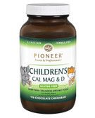 Buy Children's Cal Mag & D Chocolate Flavor 120 Chewables Pioneer Nutritional Formulas Online, UK Delivery, Mineral Supplements