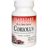 Buy Full Spectrum Coriolus 1 000 mg 30 Tabs Planetary Herbals Online, UK Delivery, Immune Support Mushrooms
