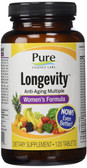 Buy Longevity Anti-Aging Multiple Women's Formula 120 Tabs Pure Essence Online, UK Delivery, Anti Aging Treatment Supplements