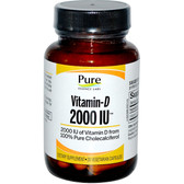 Buy Vitamin-D 2000 IU 30 Veggie Caps Pure Essence Online, UK Delivery, Vitamin D3
