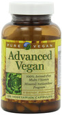 Buy Advanced Vegan 60 Veggie Caps Pure Vegan Online, UK Delivery, Vegan Vegetarian Multivitamins