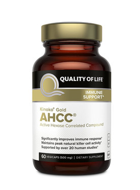 Buy Kinoko Gold AHCC Immune Support 500 mg 60 Veggie Caps Quality of Life Labs Online, UK Delivery