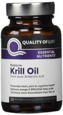 Buy Neptune Krill Oil 30 sGels Quality of Life Labs Online, UK Delivery, EFA Omega EPA DHA Gluten Free