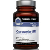 Buy Curcumin-SR Healthy Aging 125 mg 30 Veggie Caps Quality of Life Labs Online, UK Delivery, Antioxidant Curcumin Gluten Free