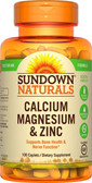 Buy Calcium Magnesium and Zinc 100 Caplets Rexall Sundown Naturals Online, UK Delivery, Mineral Supplements