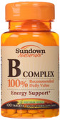 Buy B Complex 100Tabs Rexall Sundown Naturals Online, UK Delivery, Vitamin B Complex