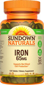Buy Iron 65 mg 120 Tabs Rexall Sundown Naturals Online, UK Delivery, Mineral Supplements