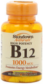 Buy High Potency B-12 1000 mcg 60 Tabs Rexall Sundown Naturals Online, UK Delivery, Vitamin B12 Cyanocobalamin