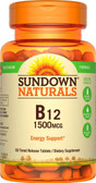 Buy High Potency B12 Time Release 1500 mcg 60 Tabs Rexall Sundown Naturals Online, UK Delivery, Vitamin B12 Cyanocobalamin