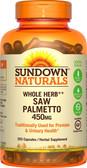 Buy Saw Palmetto 450 mg 250 Caps Rexall Sundown Naturals Online, UK Delivery, Men's Supplements For Men Saw Palmetto Prostate Health Formulas