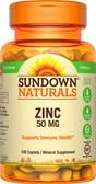 Buy Zinc High Potency 50 mg 100 Caplets Rexall Sundown Naturals Online, UK Delivery, Mineral Supplements