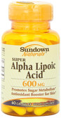 Buy Super Alpha Lipoic Acid 600 mg 60 Caps Rexall Sundown Naturals Online, UK Delivery, Antioxidant ALA
