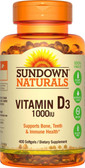 Buy High Potency Vitamin D3 1000 IU 400 sGels Rexall Sundown Naturals Online, UK Delivery, Vitamin D3