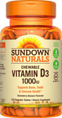 Buy Chewable Vitamin D3 Strawberry-Banana Flavor 1000 IU 120 Tabs Rexall Sundown Naturals Online, UK Delivery, Vitamin D3