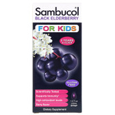 Buy Black Elderberry For Kids Syrup Berry Flavor 7.8 oz (230 ml) Sambucol Online, UK Delivery, Cold Flu Remedy Relief Immune Support Formulas