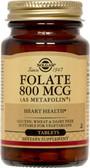 Buy Folate As Metafolin 800 mcg 100 Tabs Solgar Online, UK Delivery, Folic Acid 5-MTHF folate 5 Methyl Tetrahydrofolate Prenatal Vitamin Pregnancy