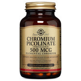 Buy Chromium Picolinate 500 mcg 120 Veggie Caps Solgar Online, UK Delivery, Mineral Supplements