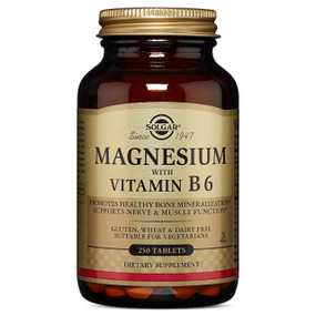 Buy Magnesium with Vitamin B6 250Tabs Solgar Online, UK Delivery