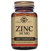 Buy Zinc 50 mg 100 Tabs Solgar Online, UK Delivery, Mineral Supplements