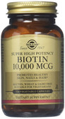 Buy Biotin Super High Potency 10000 mcg 120 Veggie Caps Solgar Online, UK Delivery, Vegan Vegetarian Gluten Free