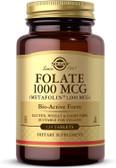 Buy Folate 1000 mcg 120 Tabs Solgar Online, UK Delivery, Folic Acid 5-MTHF folate 5 Methyl Tetrahydrofolate Prenatal Vitamin Pregnancy