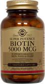 Buy Biotin 5000 mcg 100 Veggie Caps Solgar Online, UK Delivery, Vitamin B Biotin