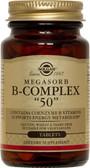 "Buy Megasorb B-Complex ""50"" 100 Tabs Solgar Online, UK Delivery, Vitamin B Complex"