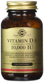 Buy Vitamin D3 (Cholecalciferol) 10000IU 120 Softgels, Solgar, UK Shop