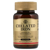 Buy Chelated Iron 100 Tabs, Solgar, UK Shop